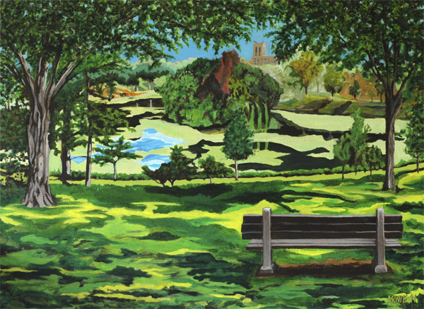 Powderhorn Lake, 2011, Acrylic on canvas, 30